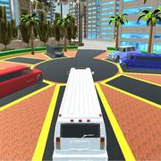 Luxury Limo Taxi Driver City Game